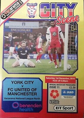 York City vs FC United of Manchester 2018/19 National North Programme