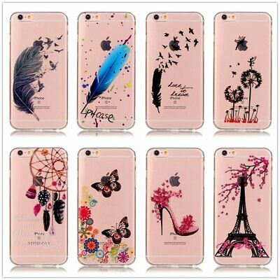 Chic Printed Transparent TPU Case For LG X Screen MOTO Alcatel Huawei Sony