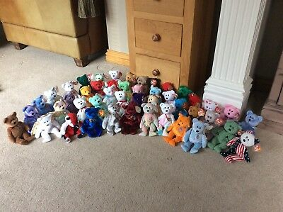 40+ TY Beanie Baby Bears, Collected Over 10 Years