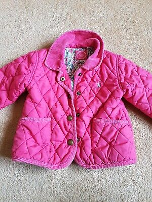Baby Girls Joules 12-18 Months Pink Padded Jacket Coat Designer