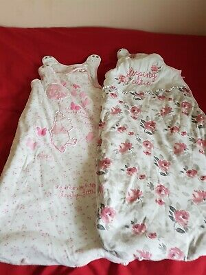 GEORGE Baby Sleeping Bag Pink X2 Age 6-12 Months 2.5 Tog will combine postage