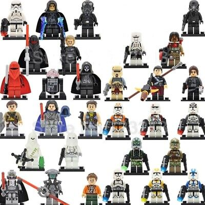 Mini Figures Individuels Star Wars Dark Vador Yoda Trooper Fits LEGO  & CUSTOM