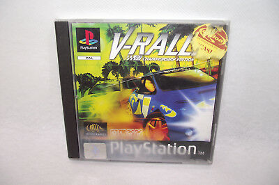 Jeu Playstation 1 PS1 V-RALLY 97 Champion Edition Infogrames PAL Complet manuel
