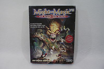 MIGHT and MAGIC VII Boite + manuel, traité, carte & autres du jeu de rôle RPG PC