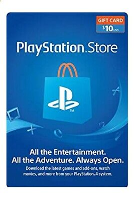 $10 PlayStation Network Psn Store Gift Card Usd ⚡⚡ Ps3 Ps4 Ps Us United States..