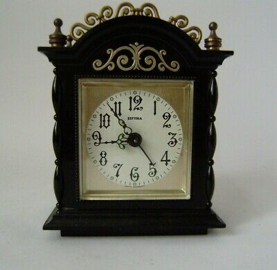 Estyma West Germany mantel alarm clock Mechanical Movement Working Order
