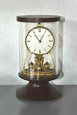 KERN Rare Vintage glass dome mantle clock. Made in Germany. Running.