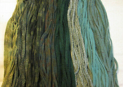 #6 Large Greens Mix   200 Wool Strips for Primitive Rug Hooking