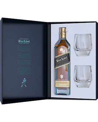 Johnnie Walker Blue Label Scotch Whisky & Crystal Glass Gift Pack