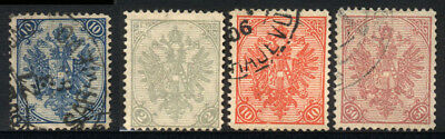 1879/1900 BOSNIA AND HERZEGOVINA USED/UNUSED STAMPS (Michel # 5I,10A,15A,20A)