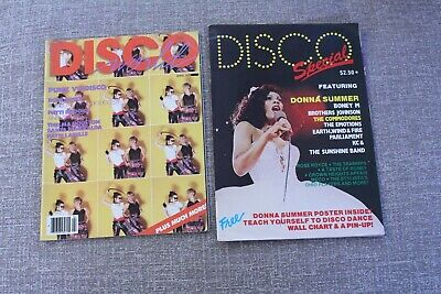 DISCO WORLD 1978 + DISCO SPECIAL 1979  Donna Summer Posters intact in both