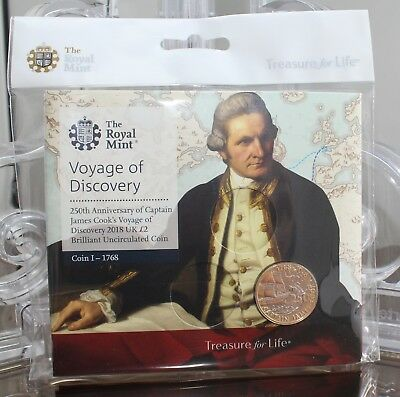 2018 Royal Mint Captain Cook £2 Two Pound Brilliant Uncirculated BU Coin Pack