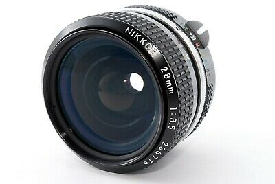 """Excellent+4"" NIKON Non-Ai Nikkor 28mm 1:3.5 Lens From JAPAN #190119-400797"