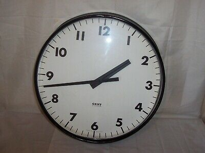 very large Gent Of Leicester slave Clock Vintage Antique Railway Factory Station