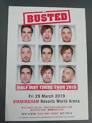 BUSTED HALF WAY There CD Album East West 2019 Autographed