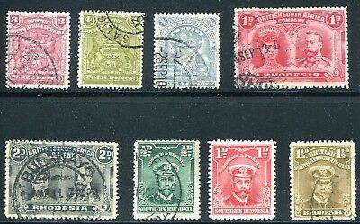 British South Africa Co. and Rhodesia 1898 - 1917 Used Lot