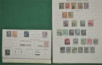 Cape Of Good Hope Stamps Selection Early Issues On 2 Album Pages (P131)
