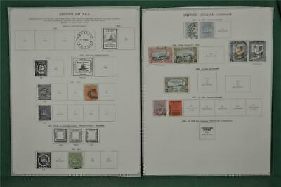 British Guiana Stamps Selection Early Issues On 3 Album Pages (P134)