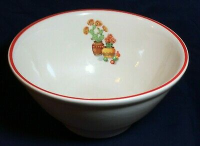 "1940's Vintage Universal Potteries Flowering Cactus 9"" Mixing Bowl No Res."