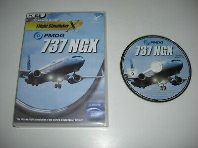 PMDG 737 NGX Pc DVD Rom nm Add-On Expansion Microsoft Flight Simulator Sim  X FSX