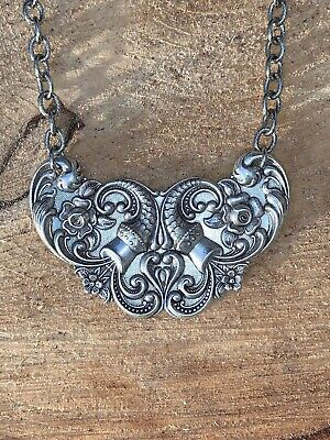 Stunning Silver Floral Art Nouveau Necklace Ladies Gift By Merrily Mad