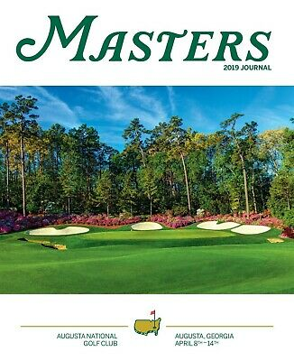 US Masters Golf - Official Programme - 8-14 April, 2019 - Augusta- Tiger Woods