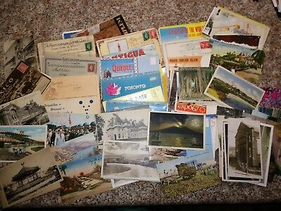 Huge Lot Of Over 100 Vintage Postcards From Around The World