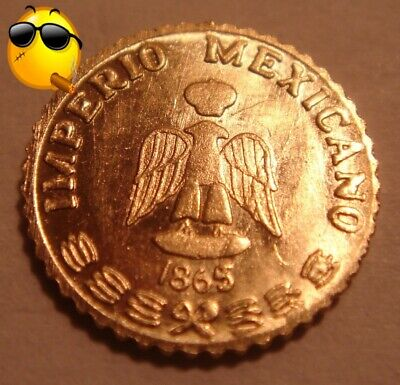 1865 Mexican Emperor Maximillian Gold Token [Bu] Brilliant Uncirculated