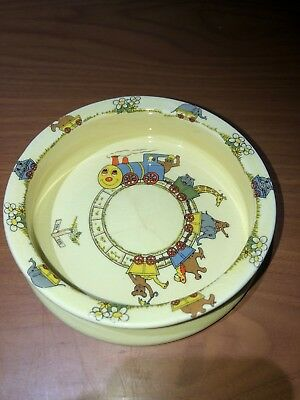 Rare Vintage Sylva Zooline Nursery Shaw Copestake Staffordshire Handcrafted Bowl