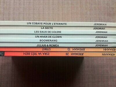 Jeremiah : lot de 8 éditions originales [Hermann / Novedi, Dupuis]