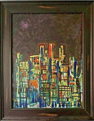 """Original art for sale by artist, Acrylic on Canvas, """"The Descent"""" Includes Frame"""
