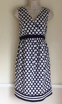 JoJo Maman Bebe Navy White Polka Dot Maternity dress Size 12 WORN ONCE