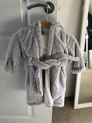 Grey Baby Dressing Gown, Size 3-6 Months