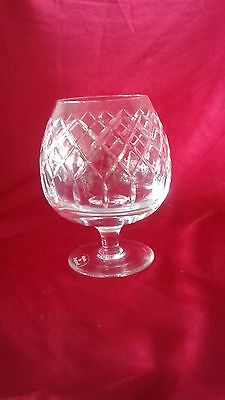 Cartier Crystal Brandy Vintage Collectors Glass label in excellent condition 5.5
