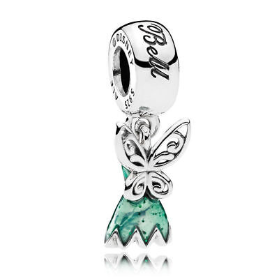 2ff7d9c24 Pandora Silver S925 ALE Disney TinkerBell Dress Dangle Charm Bead 792138EN93