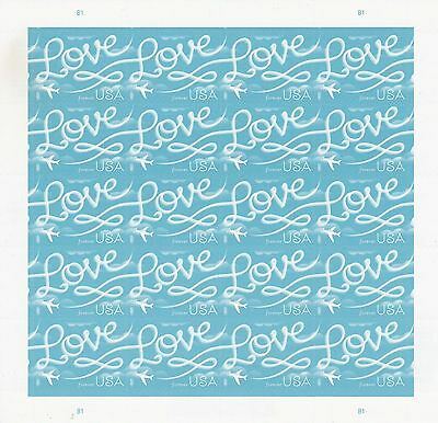 Scott# 5155 LOVE SKYWRITING 2017 MNH SHEET of 20 SELF-ADH FOREVER STAMPS +MAGNET