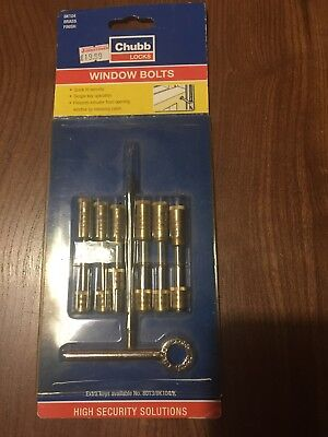 Chubb Window Bolts X6 With Key