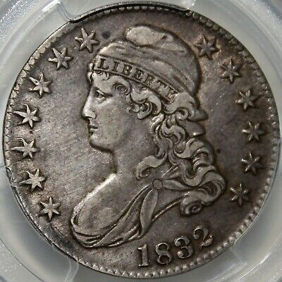 #~☆LARGE LETTERS☆~ 1832 Capped Bust Half Dollar PCGS XF-40  O-101a