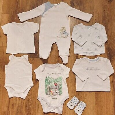 💙Mothercare Etc 0-3 Months Lovely Blue Baby Boy Bundle- Peter rabbit💙
