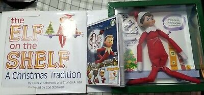The Elf on the Shelf A Christmas Tradition Blue Eye Boy light skin Used With DVD