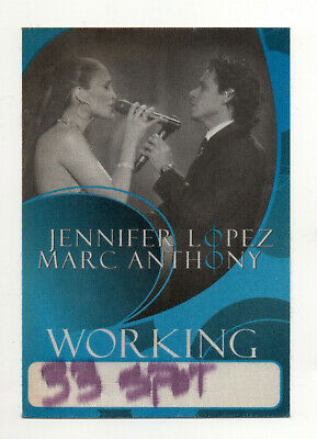 Jennifer Lopez & Marc Anthony 2007 Tour Working Crew Satin Backstage Pass, Blue