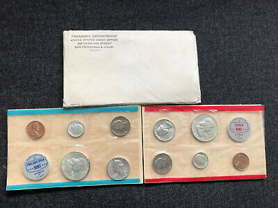 1963 TRESUARY DEPARTMENT Proof Set US MINT DENVER SF PHILA 10 coins Year SEALED
