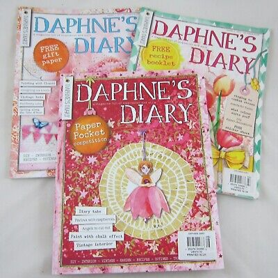 Daphne's Diary Magazine Back Issue Lot: Number 2 & 3 from 2017 and 8 from 2016