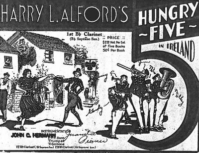 HARRY L. ALFORD'S HUNGRY FIVE IN IRELAND - Rare Irish Band Sheet Music