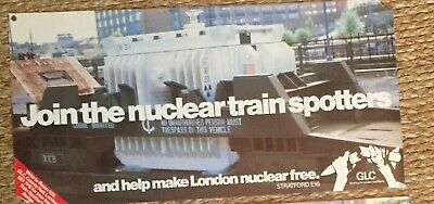 Greater London Council Poster -  GLC CND - Nuclear Disarmament - Peace Movement