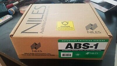 Niles ABS-1 Speaker-Level A-B Automated Switching System NOS Sealed