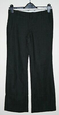 GAP Womans Girls Trousers Size 28/28 Fashion Designer Pure Wool Graphite Striped