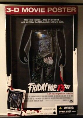 Mcfarlane Collectibles Friday The 13th 3D Movie Poster New In Original Packiging