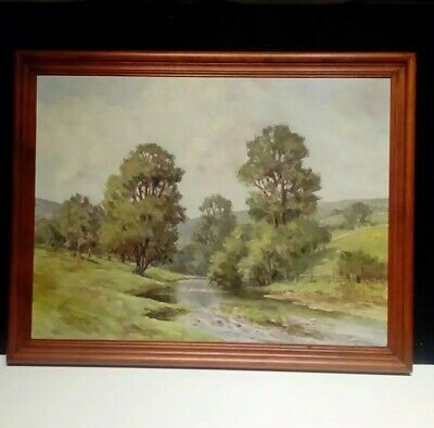 Chris Fothergill R.s.a.i. Wooded River Landscape Oil Painting.
