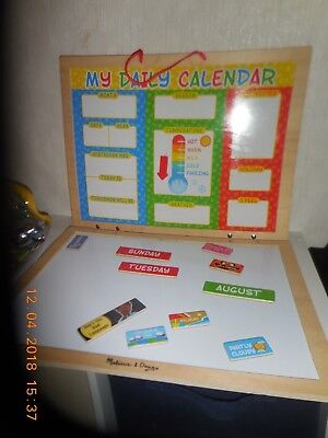 Melissa Doug My First Daily Magnetic Calendar New Free Shipping